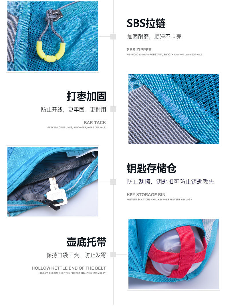 Aonijie 2018 Sports Running Waist Bag Men Women Waterproof Marathon Hydration Backpack C930 15l Trail Blue Item No E849